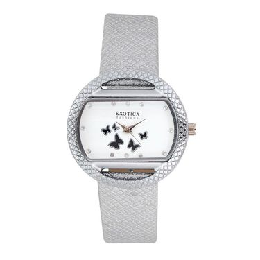 Exotica Fashions Analog Oval Dial Watch For Women_Efl9w70 - White