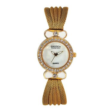 Exotica Fashions Analog Round Dial Watch For Women_Efl25w40 - White
