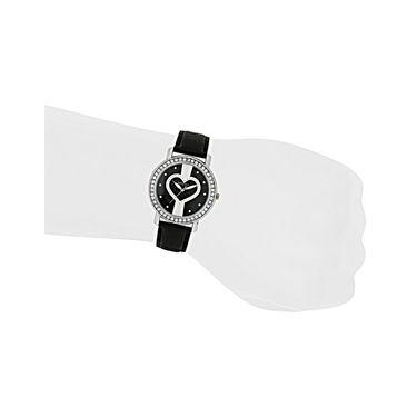 Exotica Fashions Analog Round Dial Watch For Women_Efl70w44 - Black & White