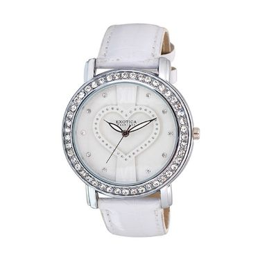 Exotica Fashions Analog Round Dial Watch For Women_Efl70w46 - White