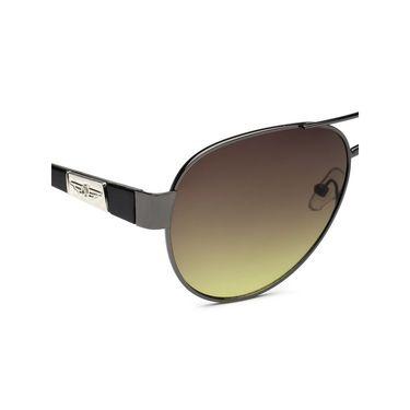 Alee Metal Oval Unisex Sunglasses_150 - Brown