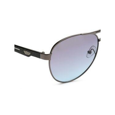 Alee Metal Oval Unisex Sunglasses_154 - Purple