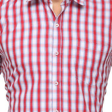 Rico Sordi Half Sleeves Checks Shirt_R007hs - Red