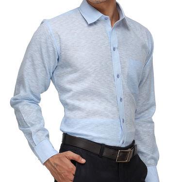 Rico Sordi Full Sleeves Plain Shirt_R014f - Blue