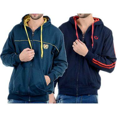 Pack of 2 Blended Cotton Full Sleeves Sweatshirts_Sd68 - Denim Blue