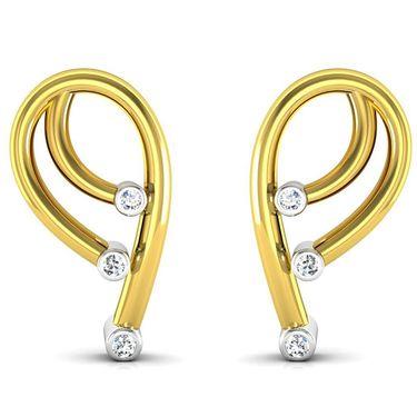 Ag Real Diamond Isha Earrings_Agse0049y