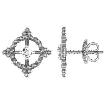 Ag Real Diamond Kinjal Earrings_Agse0164w