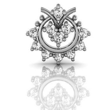 Avsar Real Gold and Swarovski Stone Kolkatta Earrings_Ave002wb