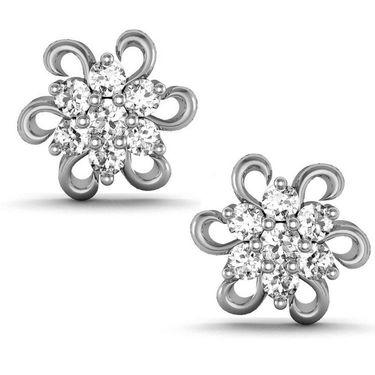 Avsar Real Gold and Swarovski Stone Mayuri Earrings_Ave018wb