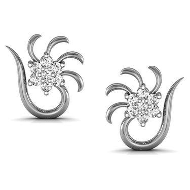 Avsar Real Gold and Swarovski Stone Vedika Earrings_Ave049wb