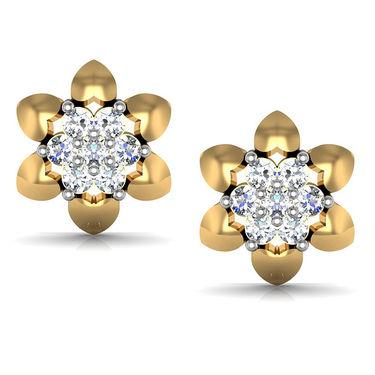Avsar Real Gold and Swarovski Stone Sachi Earrings_Ave078yb