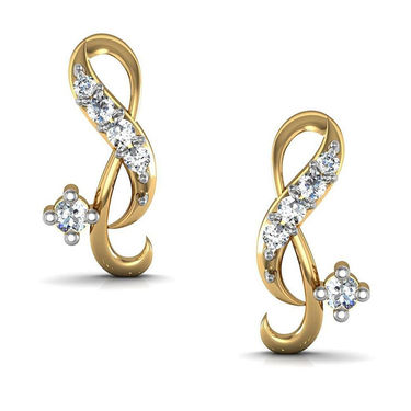 Avsar Real Gold and Swarovski Stone Jaipur Earrings_Ave0118yb