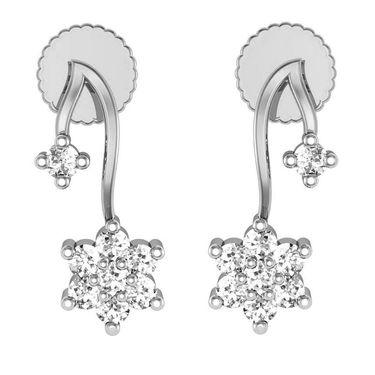 Avsar Real Gold and Swarovski Stone Kinjal Earrings_Ave0154wb