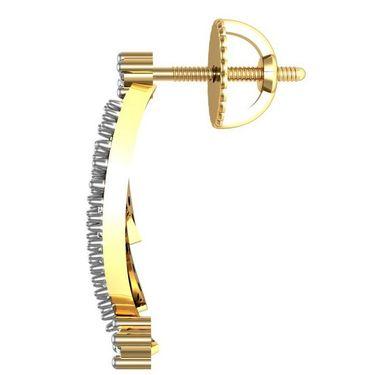 Avsar Real Gold and Swarovski Stone Patana Earrings_Bge011yb