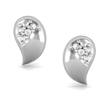 Avsar Real Gold and Swarovski Stone Mamata Earrings_Bge021wb