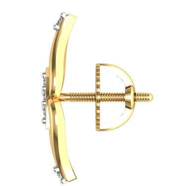 Avsar Real Gold and Swarovski Stone Shruti Earrings_Bge035yb