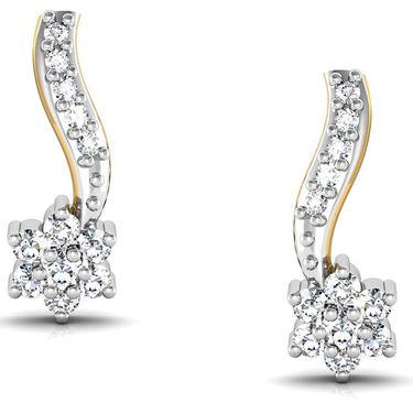 Avsar Real Gold and Swarovski Stone Tejsvi Earrings_Bge043wb