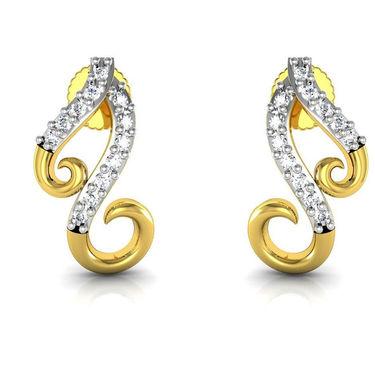 Avsar Real Gold and Swarovski Stone Sonali Earrings_Bge052yb