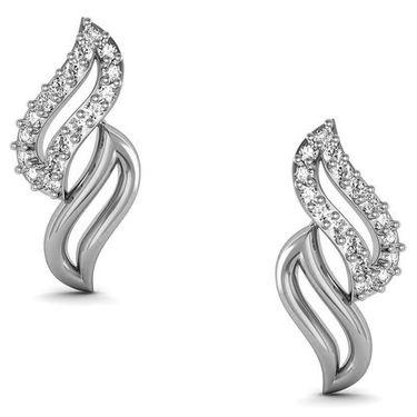 Avsar Real Gold and Swarovski Stone Channai Earrings_Bge063wb