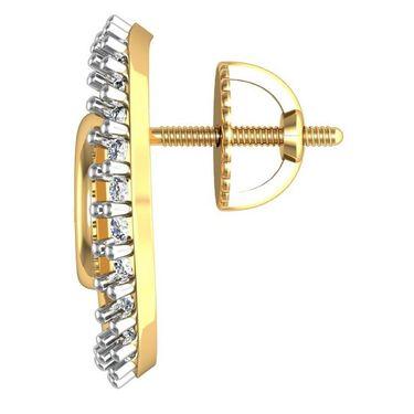 Avsar Real Gold and Swarovski Stone Varsha Earrings_Bge088yb