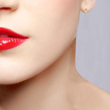 Avsar Real Gold and Swarovski Stone Ranchi Earrings_Uqe007yb