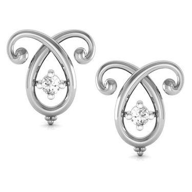 Avsar Real Gold and Swarovski Stone Manisha Earrings_Uqe018wb