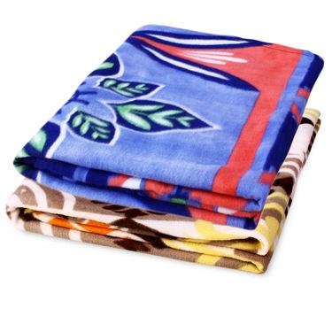 Storyathome Pack of 2 Designer Printed  Double Fleece Blanket-CA1209-CA1210