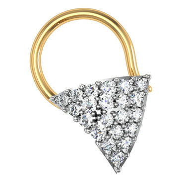 Avsar Real Gold & Swarovski Stone Madhavi Nose Pin_Av16yb