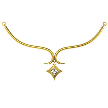 Avsar Real Gold & Swarovski Stone Kolkatta Necklace_Nl10yb