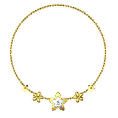 Avsar Real Gold & Swarovski Stone Shamiksha Necklace_Nl13yb