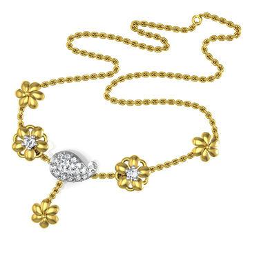 Avsar Real Gold & Swarovski Stone Channai Necklace_Nl16yb
