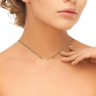 Avsar Real Gold & Swarovski Stone Vidya Necklace_Nl6yb
