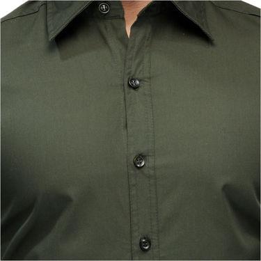 Full Sleeves Cotton Shirt_drkgrnsht - Dark Green