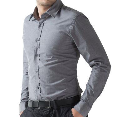 Full Sleeves Cotton Shirt_greysht - Grey