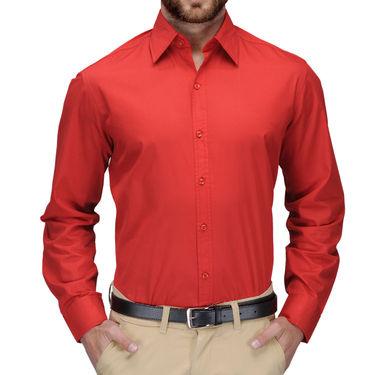 Full Sleeves Cotton Shirt_redsht - Red