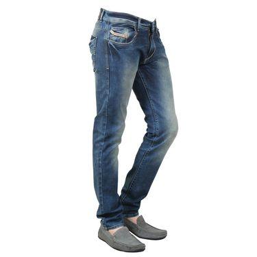 Branded Cotton Slim Fit Jeans_Dgdg - Greenish Blue