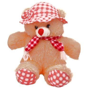Kaku loveable Teddy with Cap& Holding Muffler_DKK-27
