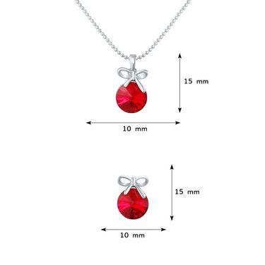 Mahi Rhodium Plated Swarovski Elements Pendant Set_Nl1104080rre