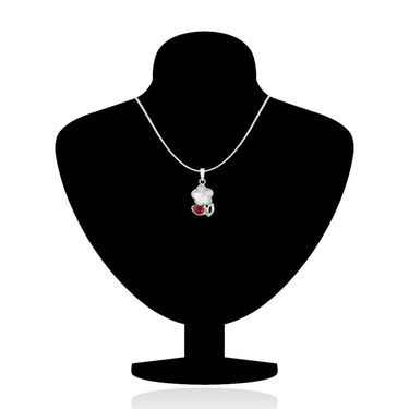 Mahi Rhodium Plated Swarovski Elements Pendant Set_Nl1104115rwhired
