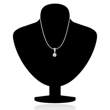Mahi Rhodium Plated Swarovski Zirconia Pendant Set_Nl1105010r