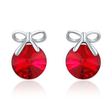 Mahi Rhodium Plated Swarovski Elements Pendant Set_Nl5104080rredcd