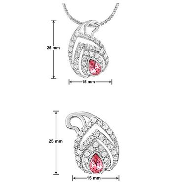 Mahi Rhodium Plated Swarovski Zirconia Pendant Set_Nl1104131r