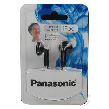 Panasonic In Ear Earphones for Ipod / MP3 player RP-HV094GU-K