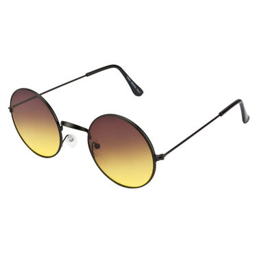 Mango People Metal Unisex Sunglasses_Mp10800yl - Black & Yellow