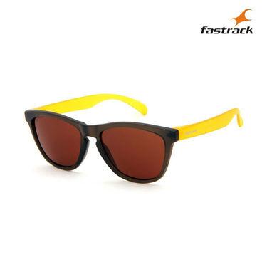 Fastrack 100% UV Protection Sunglasses For Men_Pc003br5 - Black & Yellow
