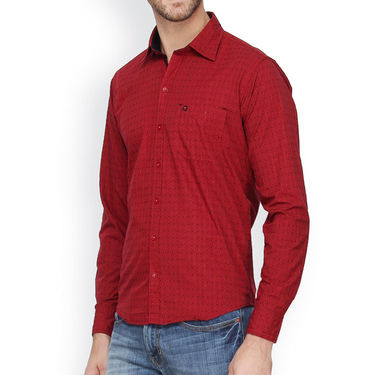 Crosscreek Cotton Casual Shirt_1030304 - Maroon