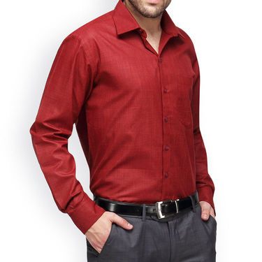 Copperline Cotton Rich Formal Shirt_CPL1168 - Red
