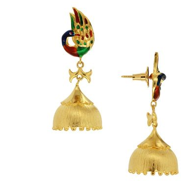 Spargz Peacock Bell Bottom Earring_Aier324 - Multicolor