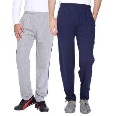 Pack of 2 Fizzaro Regular Fit Trackpants_Fl101106 - Grey & Blue