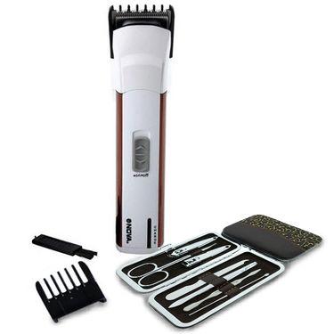 Nova Men's Hair Trimmer & Clipper with 7pcs Manicure Kit